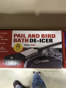 Pail and Bird Bath De-Icer