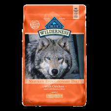 Large Breed Chicken Recipe Grain-Free Dry Dog Food. Orange feed bag.