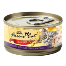 Fussie Cat Super Premium Chicken with Duck Formula in Gravy Grain-Free Canned Cat Food