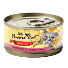 Fussie Cat Super Premium Chicken with Egg Formula in Gravy Grain-Free Canned Cat Food