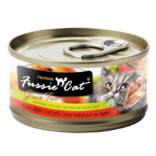 Fussie Cat Premium Tuna with Chicken Liver Formula in Aspic Grain-Free Canned Cat Food