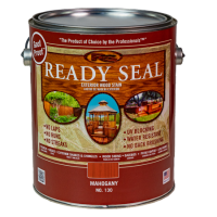 Ready Seal Mahogany 130 Stain and Sealer in silver pail with dark red label