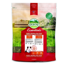Oxbow Essentials Adult Guinea Pig Food in colorful bag.