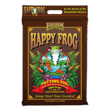 FoxFarm Happy Frog Potting Soil in brown bag.