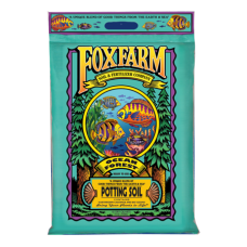 FoxFarm Ocean Forest Potting Soil in teal bag.