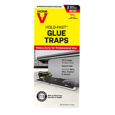 Victor Hold-Fast Disposable Rat Glue Traps – 2pk