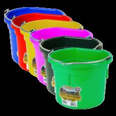 Little Giant 8 Quart Flat Back Plastic Bucket