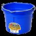 Little Giant 8 Quart Flat Back Plastic Bucket - Blue