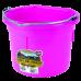 Little Giant 8 Quart Flat Back Plastic Bucket - Pink