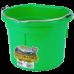 Little Giant 8 Quart Flat Back Plastic Bucket - Green