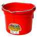 Little Giant 8 Quart Flat Back Plastic Bucket - Red