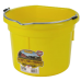 Little Giant 8 Quart Flat Back Plastic Bucket - Yellow