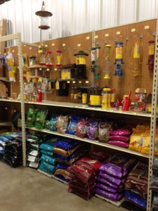 bird seed and feeders at Argyle Feed