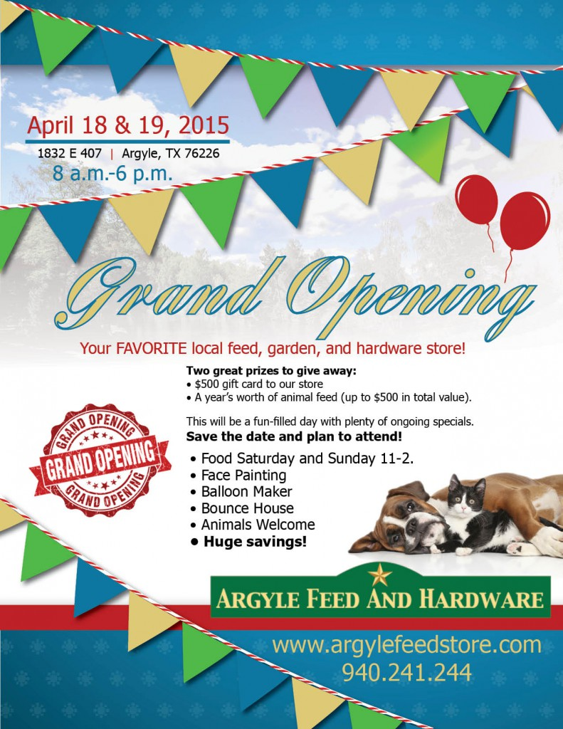 Argyle Feed Store Grand Opening
